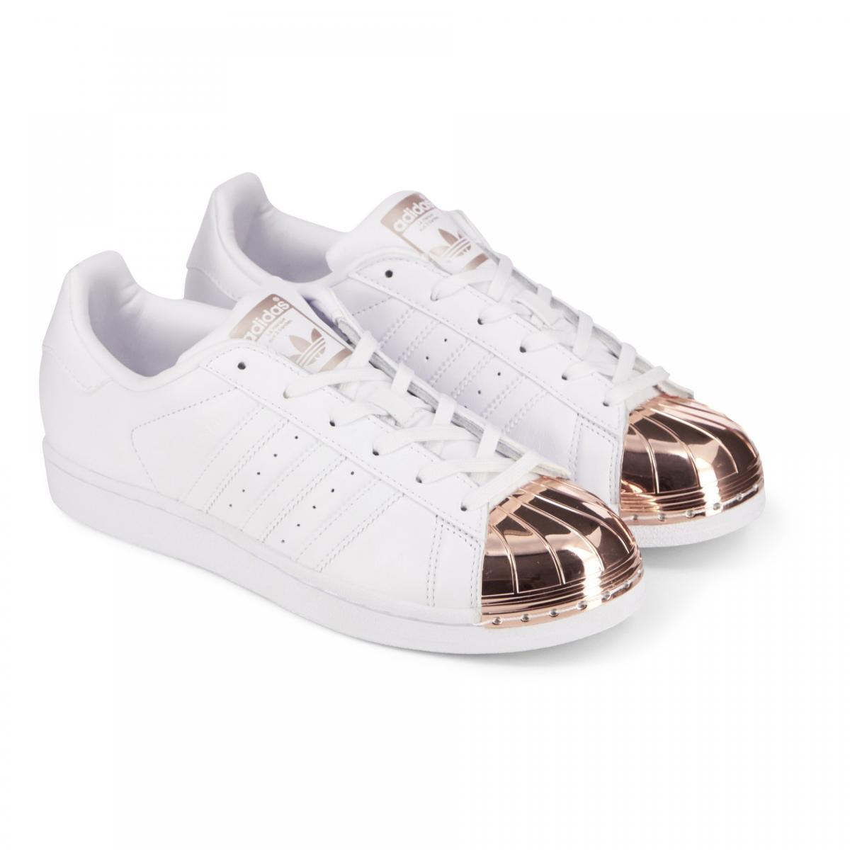 adidas superstar blanc et bronze