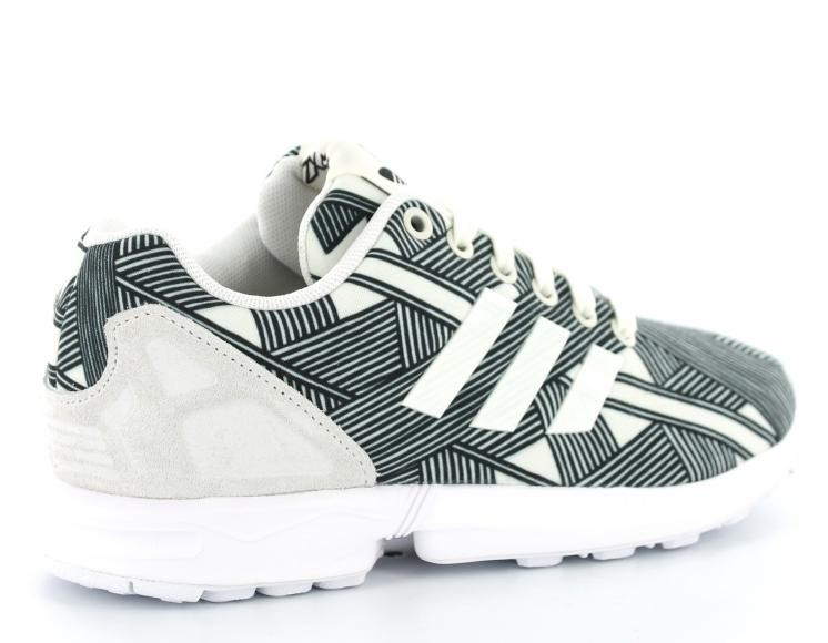 Vente de adidas zx flux femme blanche et noir Soldes